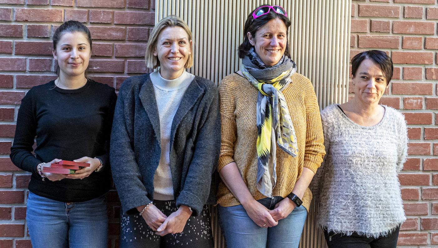 Lucile, Désirée, Anne-Lise et Natacha font partie des chevilles ouvrières de ce projet zéro déchet.