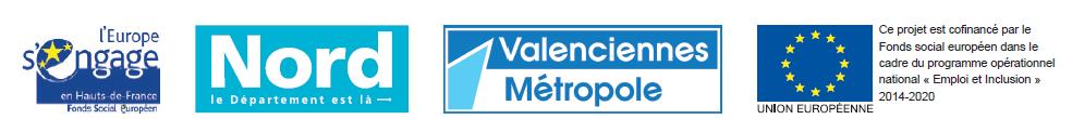 Projet financé par le Département du Nord, Valenciennes Métropole et le Fonds social européen, dans le cadre du programme opérationnel national
